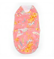 Butterflies and mimosa Summer swaddle